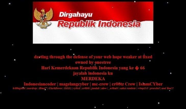 Tampilan Blogger Borneo Ketika Dideface
