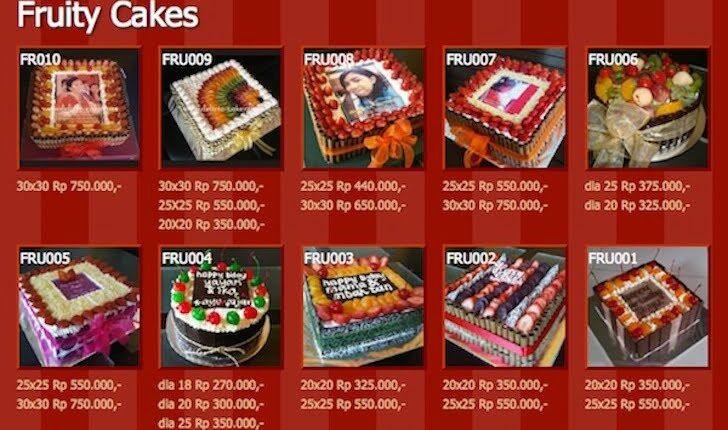 Model Kue Ulang Tahun Delicia Cake Pontianak