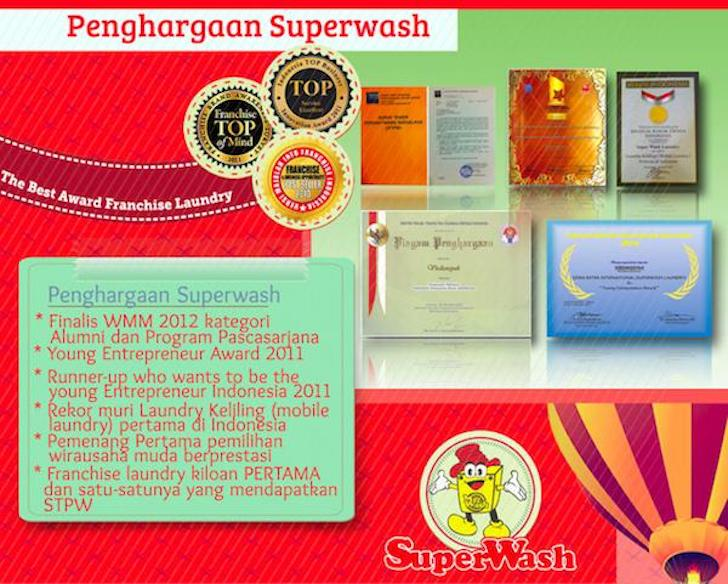 Penghargaan SuperWash Franchise Laundry Murah Indonesia