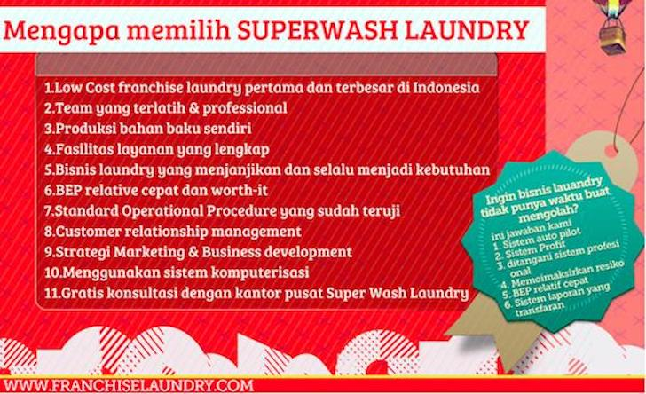 Bisnis Franchise Laundry SuperWash