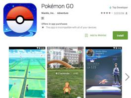 Download Pokemon Go via Google PlayStore