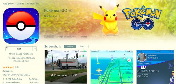 Download Pokemon Go via iTunes