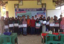 Para Peserta Pelatihan Jurnalistik Warga Desa Teluk Empening Kabupaten Kubu Raya Tahun 2016