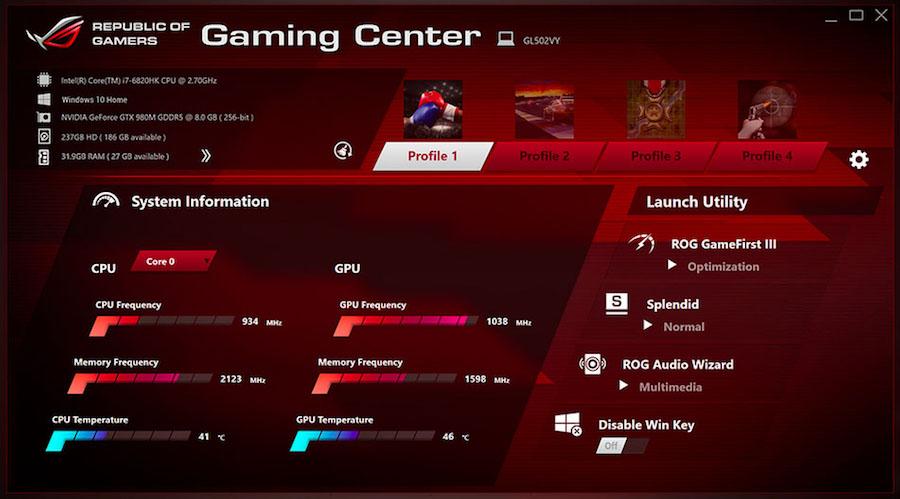 Gaming Center ASUS ROG GL502VS