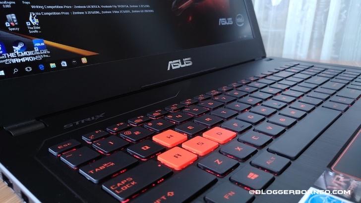 Keyboard Anti-Ghosting ASUS ROG GL502VS