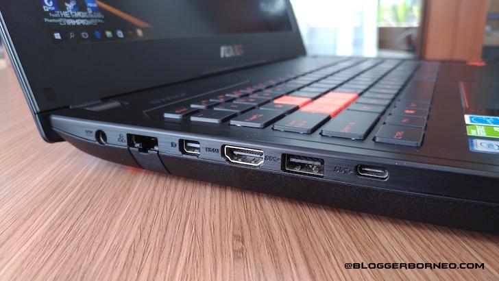 Slot Panel Kiri ASUS ROG GL502VS