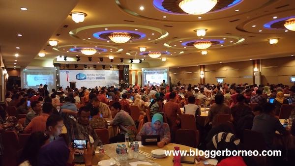 Suasana Sosialisasi Tanda Tangan Digital KEMKOMINFO 2016 di Pontianak