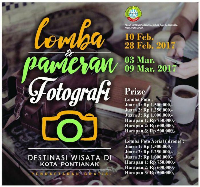 Lomba Pameran Fotografi Destinasi Wisata Kota Pontianak 2017