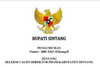 Seleksi Calon Direktur PDAM Kabupaten Sintang