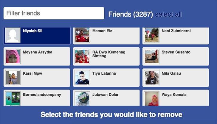 Cara Cepat Menghapus Pertemanan di Facebook