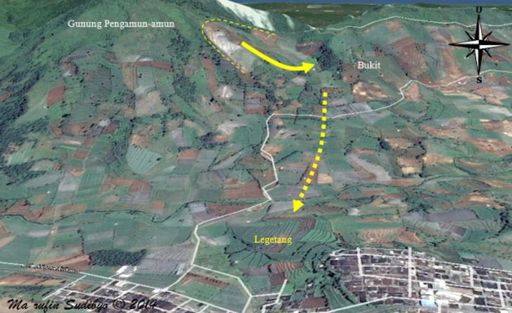 Denah Lokasi Dukuh Legetang Banjarnegara