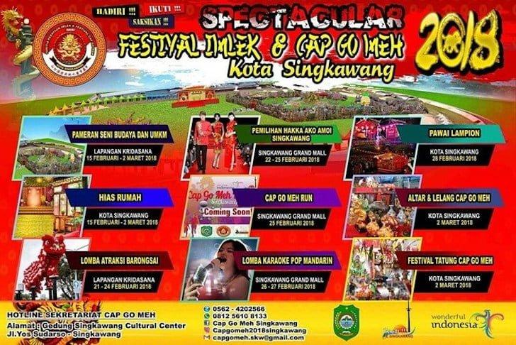 Kalender Festival Imlek dan Cap Go Meh Singkawang 2018