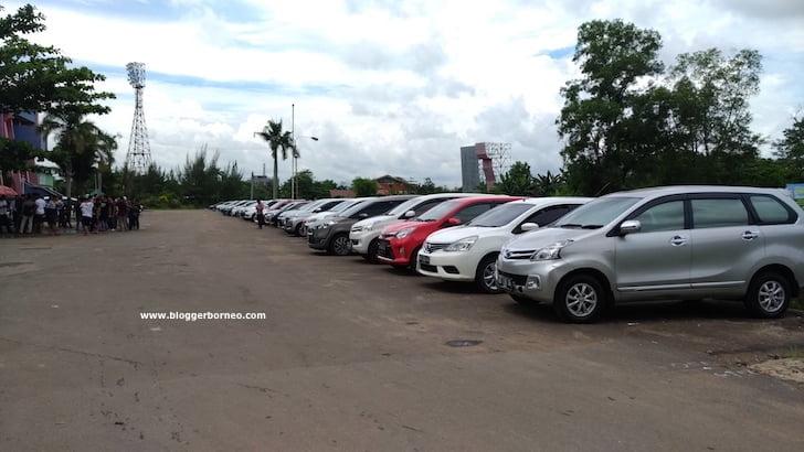 Driver Taksi Online Pontianak Kumpul di Kawasan GOR Pangsuma