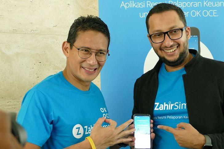 Foto Bersama Wakil Gubernur Jakarta Sandiaga Uno dan CEO Zahir Accounting Muhammad Ismail
