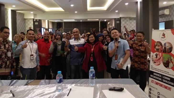 Wefie Bareng Peserta Sosialisasi Bisnis Jaman Now Agen Pegadaian Pontianak 2018
