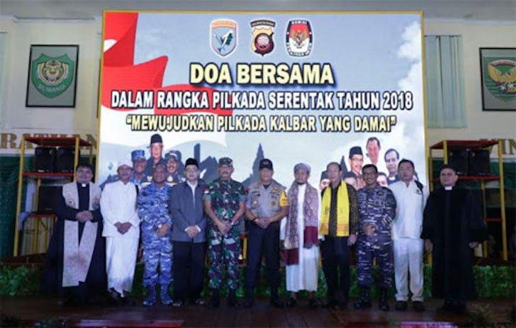 Doa Bersama dalam Rangka Pilkada Serentak 2018 Kalbar Aman dan Damai
