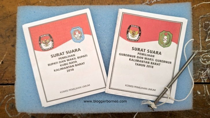 Surat Suara Pilkada Serentak 2018 Kalimantan Barat dan Kubu Raya