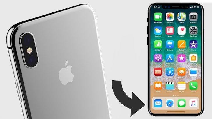 iPhone X Menu View