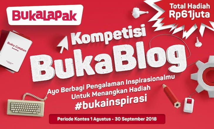 Kompetisi BukaBlog BukaLapak BukaInspirasi Berhadiah 61 Juta Rupiah