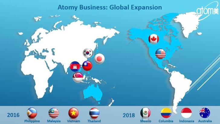 Perkembangan Bisnis Atomy di Dunia