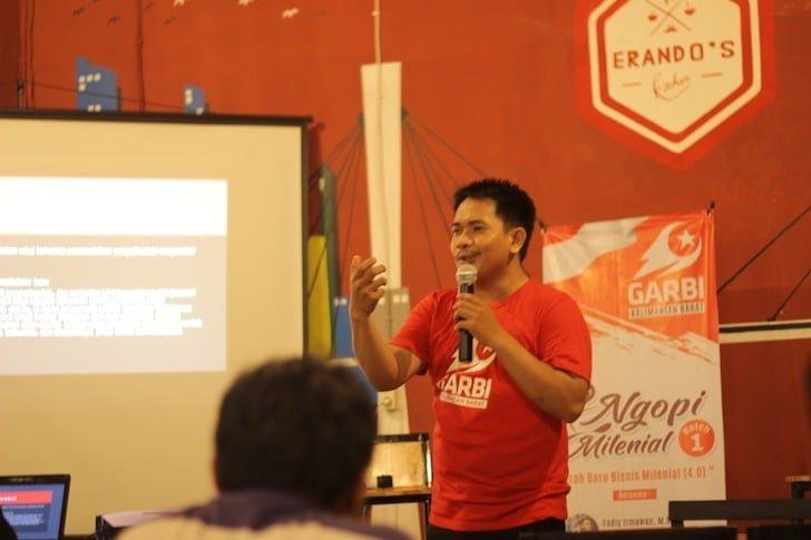 Narasumber Kegiatan Ngopi Milenial GARBI Kalimantan Barat