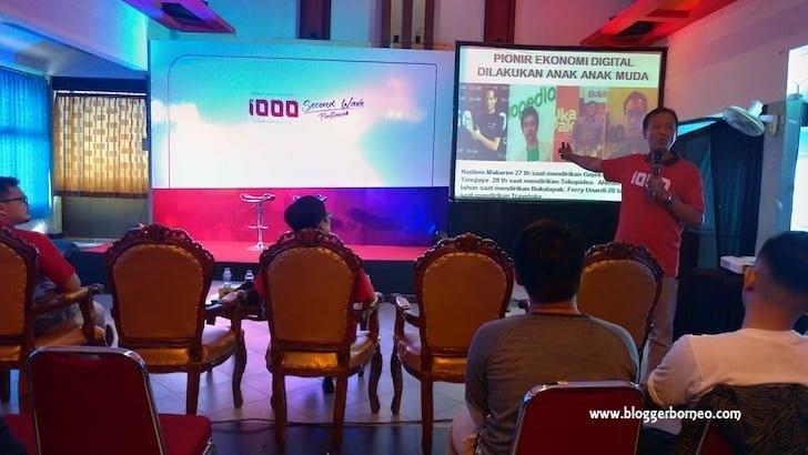 Staf Ahli Kemenkominfo Bidang Hukum Memberikan Presentasi dalam 1000 Startup Digital Pontianak