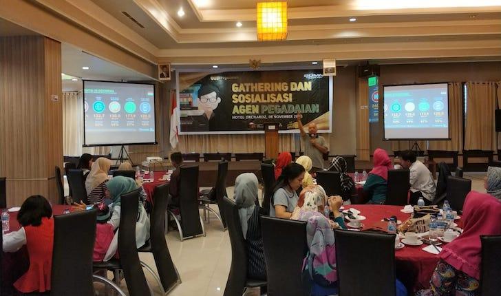 Tim PontiMarket Menjadi Narasumber Kegiatan Gathering dan Sosialisasi Agen Pegadaian Pontianak