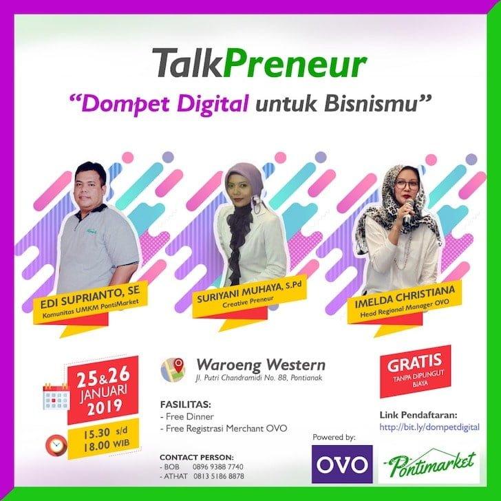 TalkPreneur Dompet Digital untuk Bisnismu
